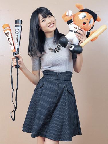 ℃-ute矢島舞美が巨人にエール!「ヤクルトに勝って日本シリーズに進出してほしい」