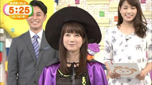 めざましテレビのお天気キャスター 小野彩香が魔女のコスプレ