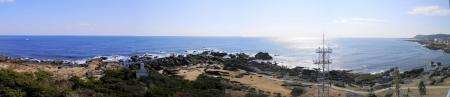野島崎灯台のパノラマ