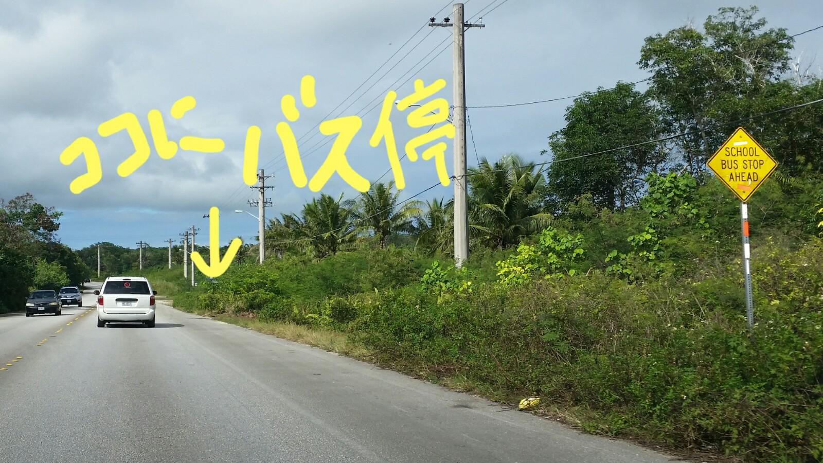 アメリカグアムスクールバス注意点標識