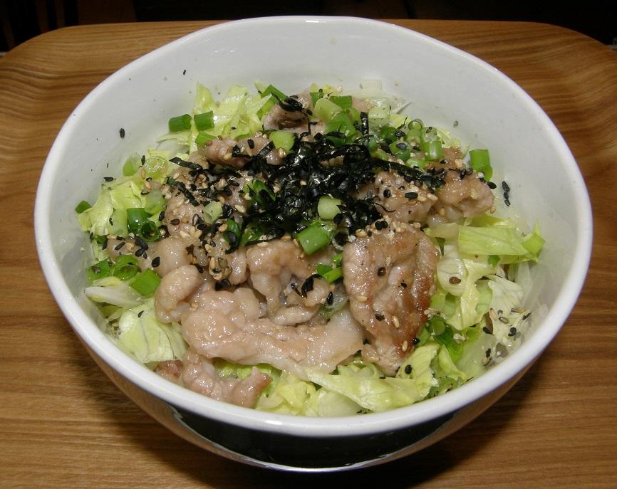 海苔塩バター丼 (2)