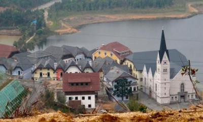 中国恵州市の偽物 オーストリア 世界遺産 ハルシュタット
