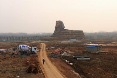 中国の偽物 スフィンクス 世界遺産 パクリ