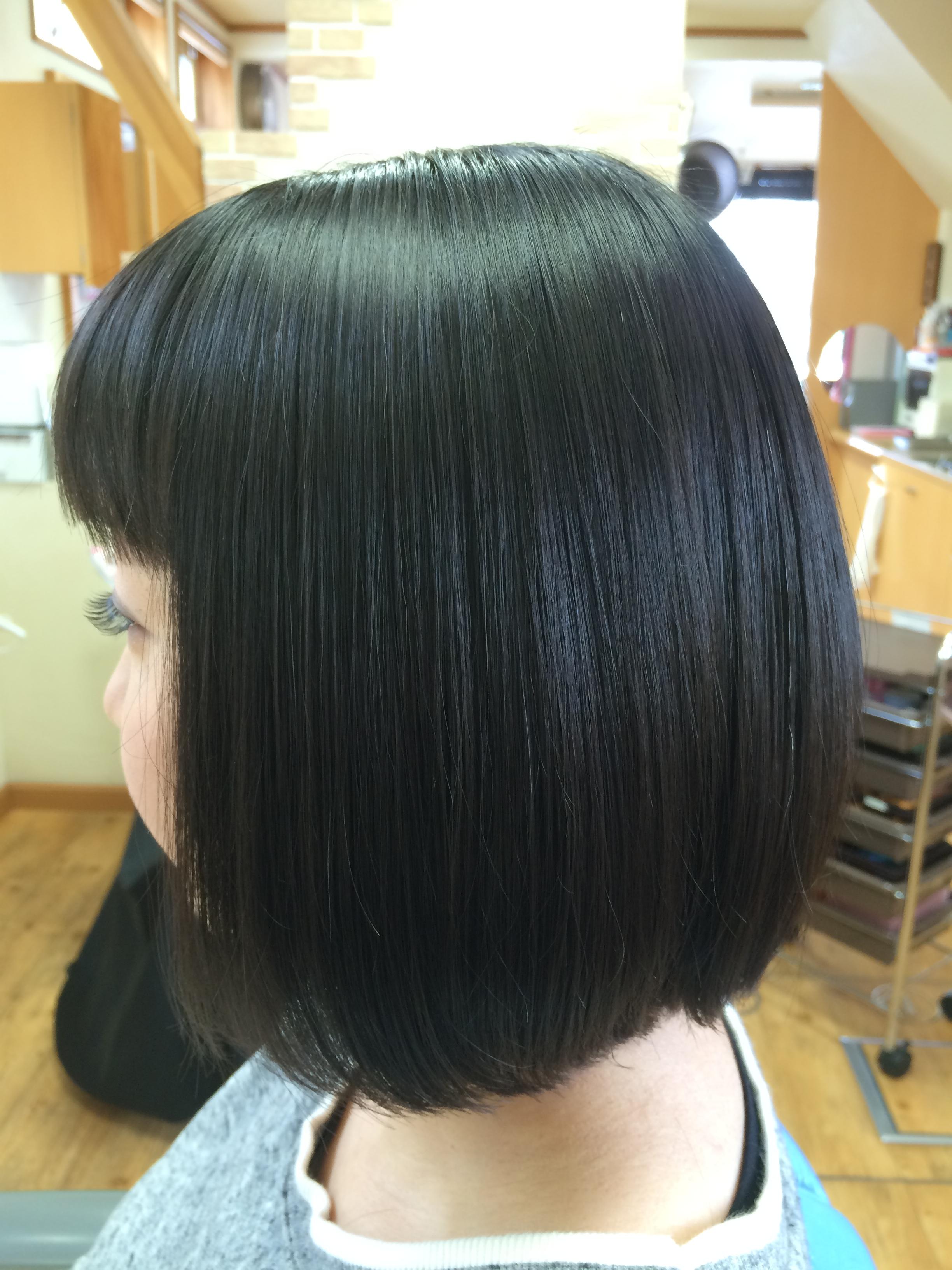 美髪になれる縮毛矯正 ショートボブ