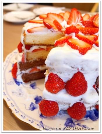 手作り2段ケーキ