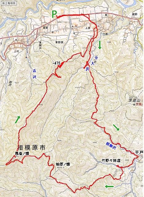 青野原への旧径路1