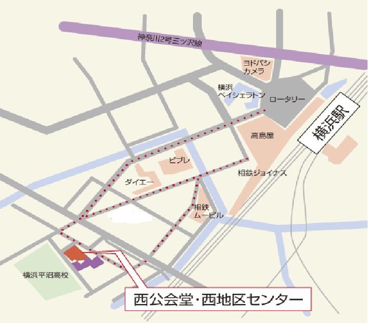西公会堂の地図