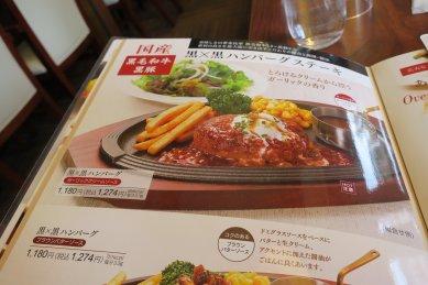 メニュー・黒×黒ハンバーグ
