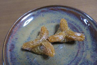 柚餅子on黒唐津釉皿