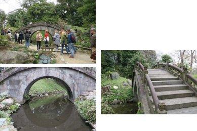 円月橋と神田上水跡&外国人観光客