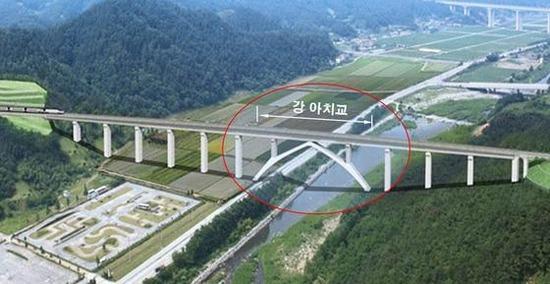 平昌への鉄橋が崩壊2