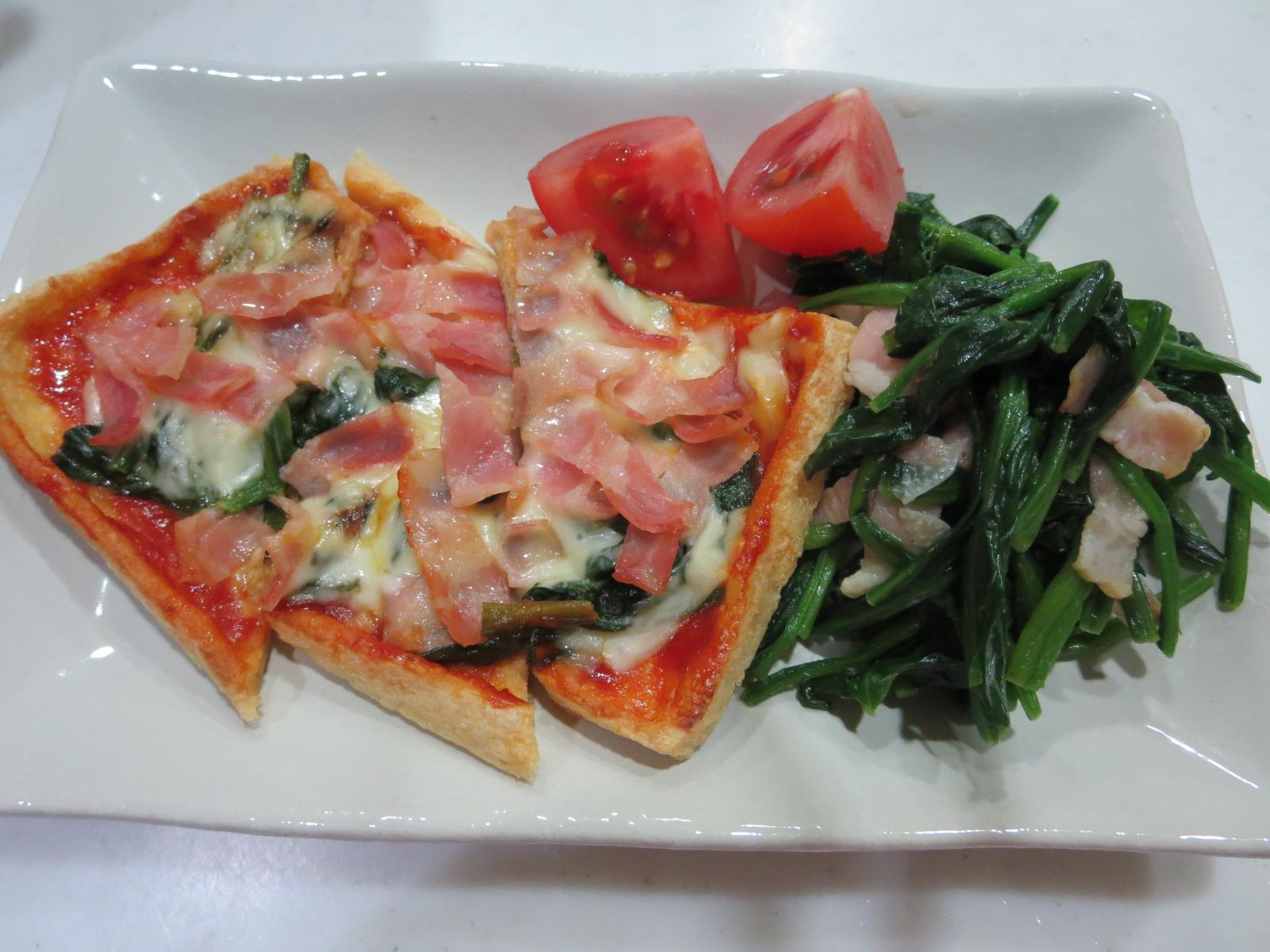 油揚げのピザ