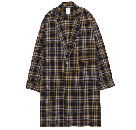 MGI-SH12 CHECK GOWN SHIRT YELLOW_R