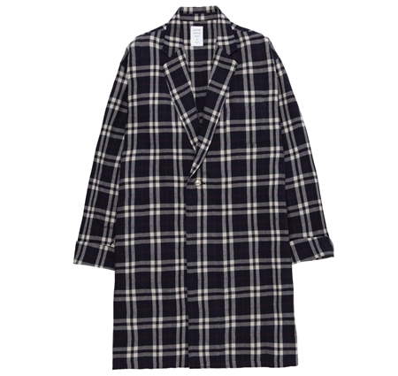 MGI-SH12 CHECK GOWN SHIRT NAVY_R