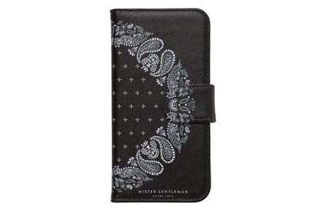 MGI-AC29 BOOK STYLE BANDANA iPhone CASE BLACK_R