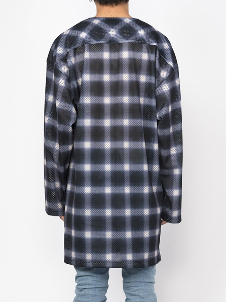 PM16LSS02403Ombrer Check Mesh Long Tee3_R