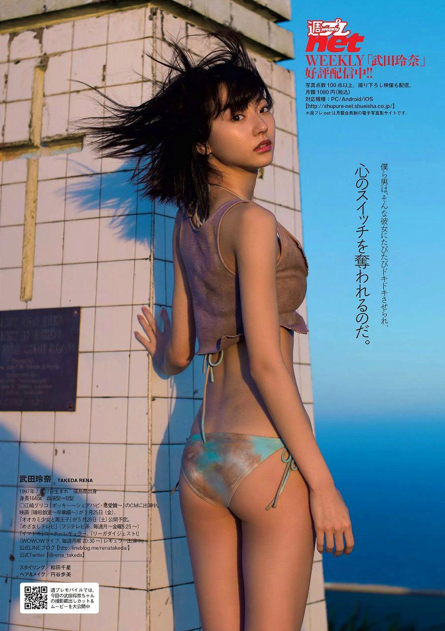「週刊プレイボーイ 2016年」武田玲奈の水着お尻グラビア