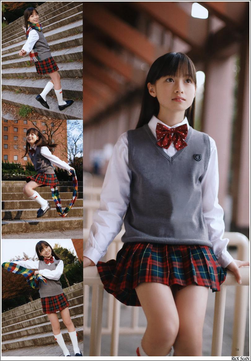 中学一年の時の橋本環奈の制服グラビア