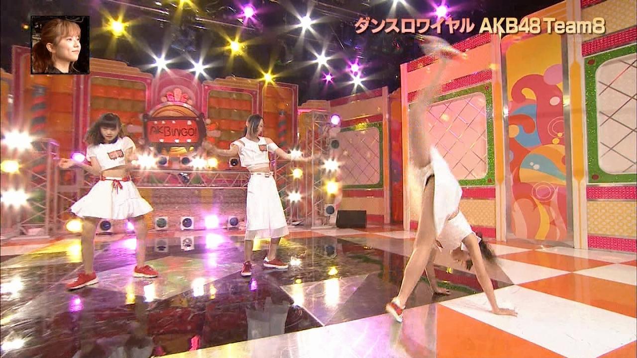 日テレ「AKBINGO!」ダンスロワイヤルAKB48 Team8、開脚したJCアイドル(本田仁美)のパンツの隙間から見えたもの