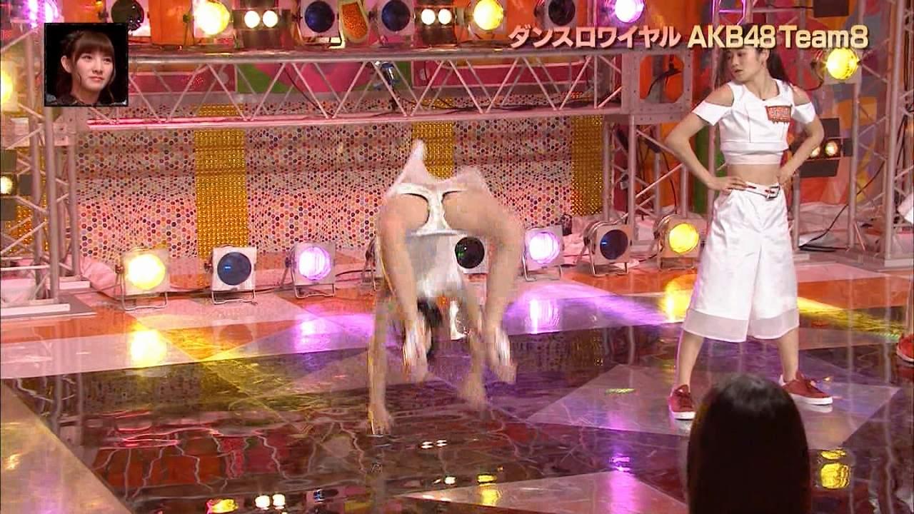 日テレ「AKBINGO!」ダンスロワイヤルAKB48 Team8、JCアイドルのパンツの中が見えてしまう