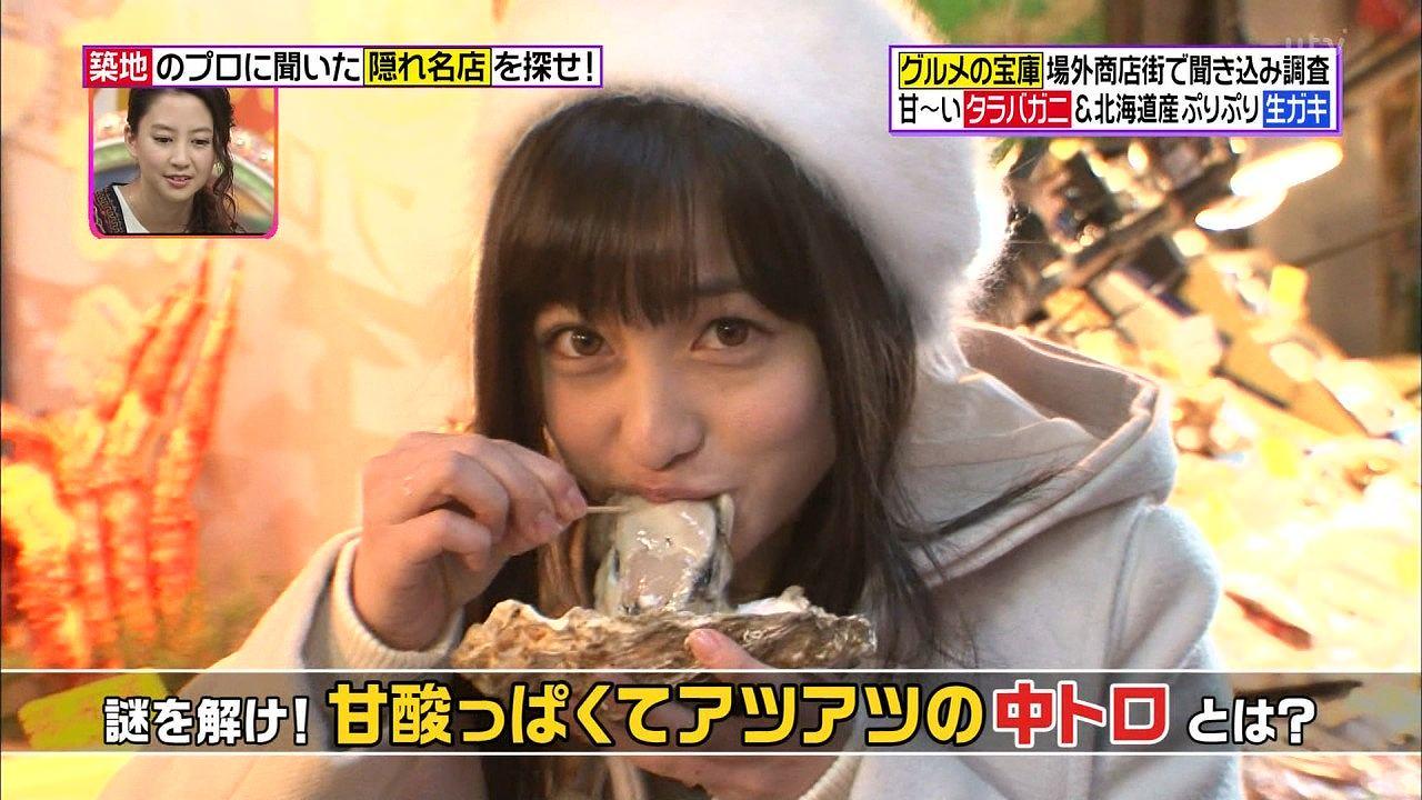 日テレ「ヒルナンデス!」で牡蠣を食べる橋本環奈