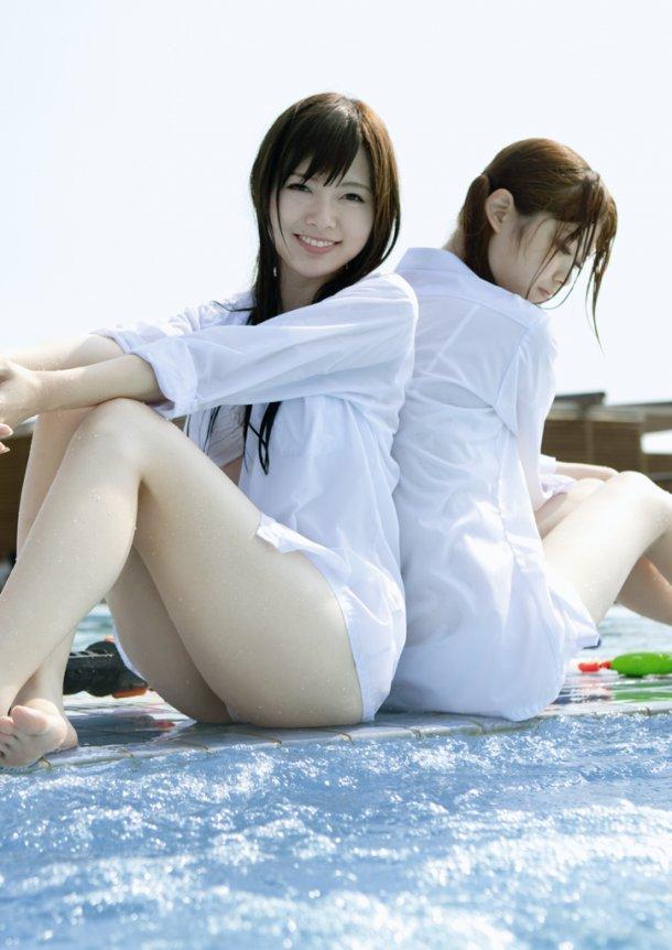 乃木坂46ファースト写真集「乃木坂派」画像、白石麻衣と松村沙友理の水着グラビア