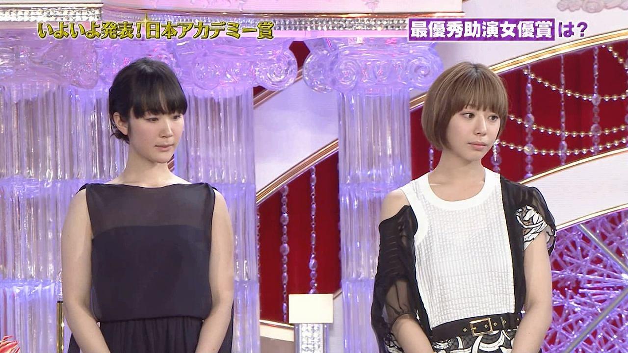 第39回日本アカデミー賞授賞式に出席した黒木華と夏帆