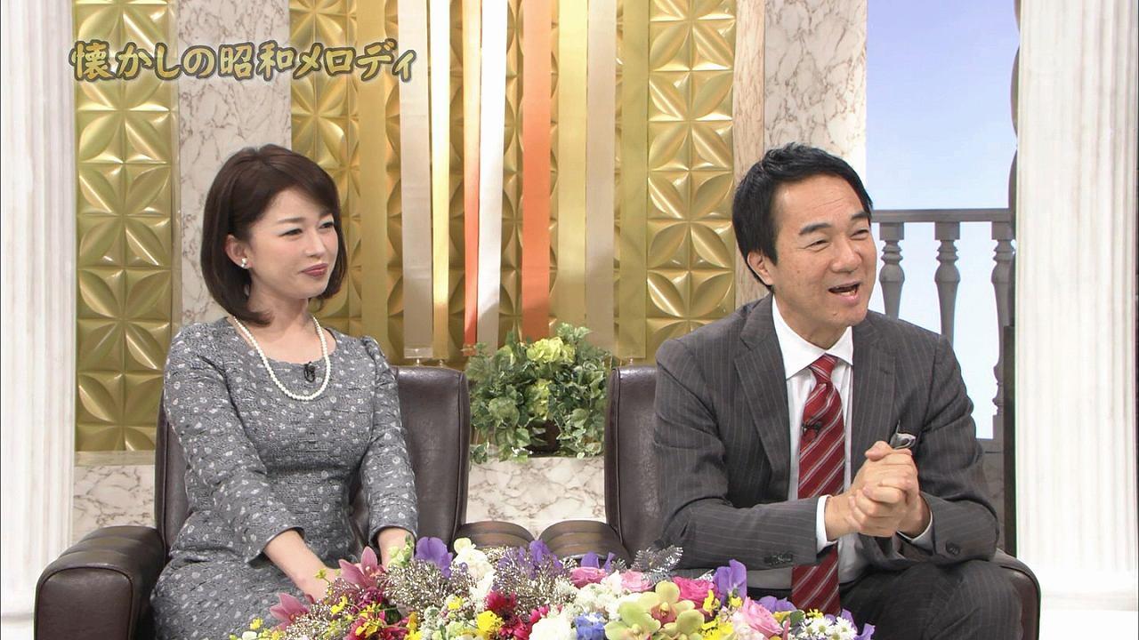 テレ東「懐かしの昭和メロディ」松丸友紀アナの着衣巨乳