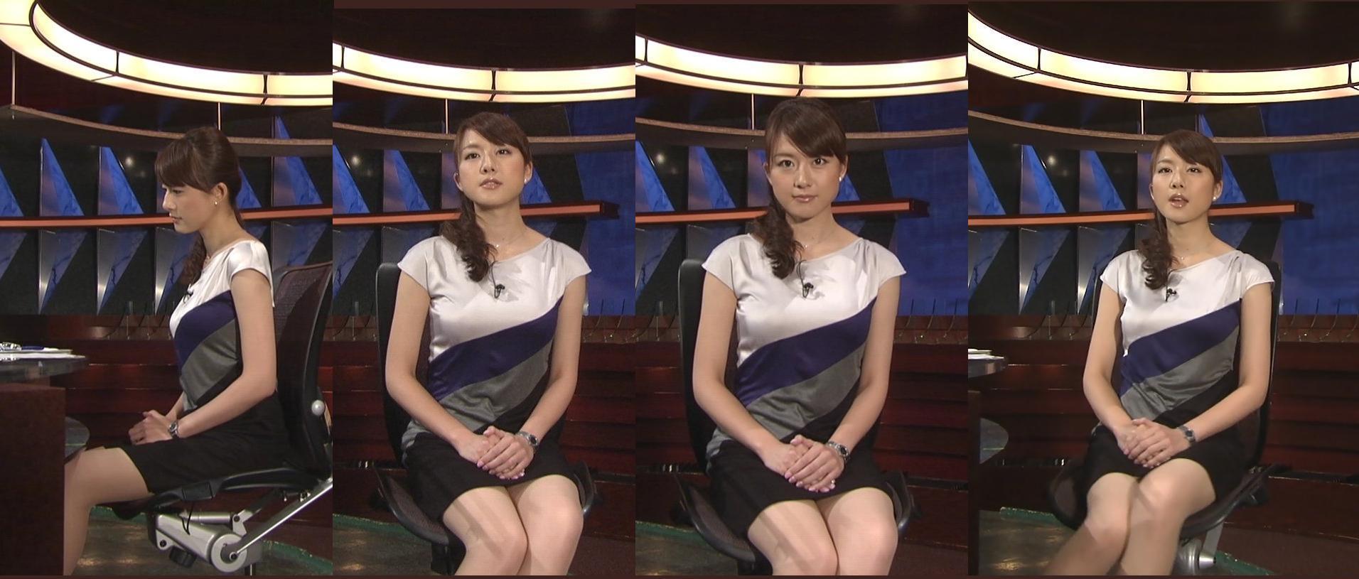 フジテレビ「ニュースJAPAN」、ワンピースの衣装を着て太ももが露出している大島由香里アナ
