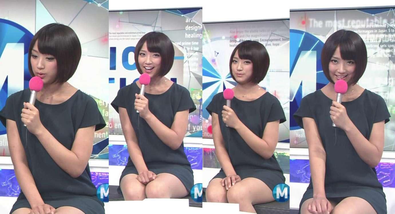 ミュージックステーションでミニスカワンピースを着てパンチラしてる竹内由恵