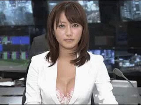 ニュース番組で下着おっぱい丸出しの枡田絵理奈アナ