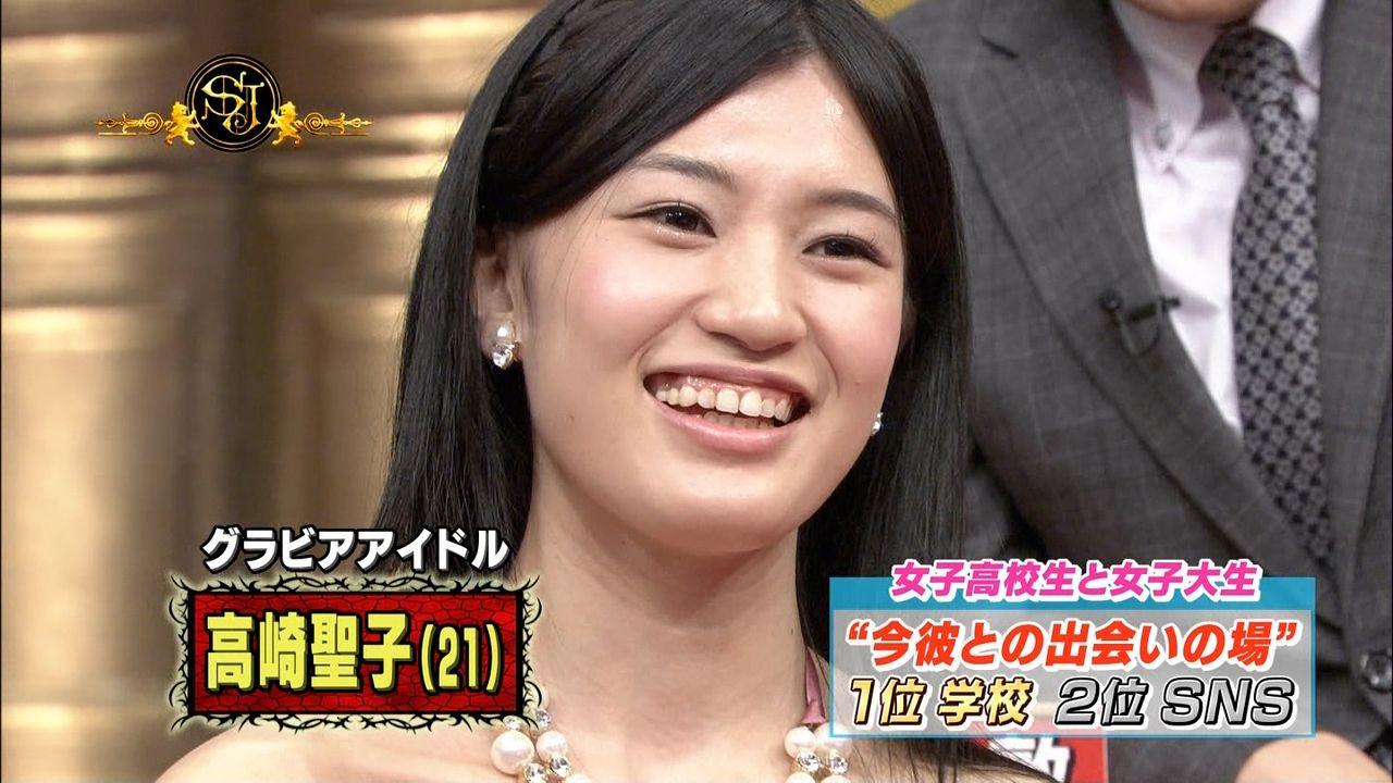 テレビ出演した高崎聖子の顔