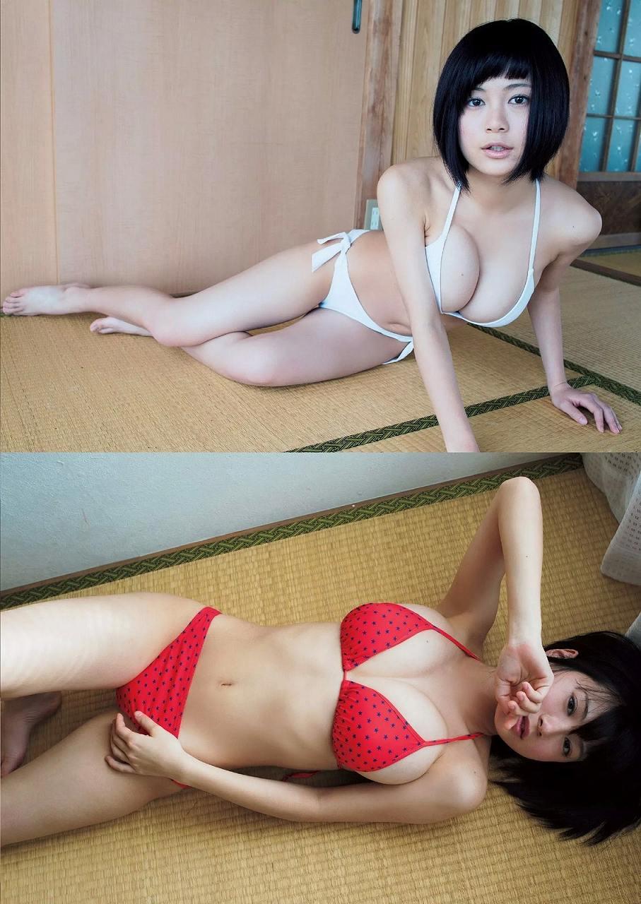 「週刊プレイボーイ」Fカップ女子高生RaMuの水着グラビア