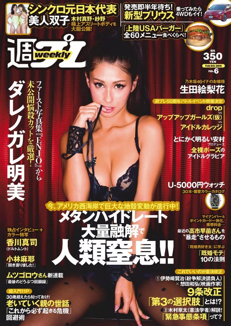 「週刊プレイボーイ  2016 No.6」表紙のダレノガレ明美