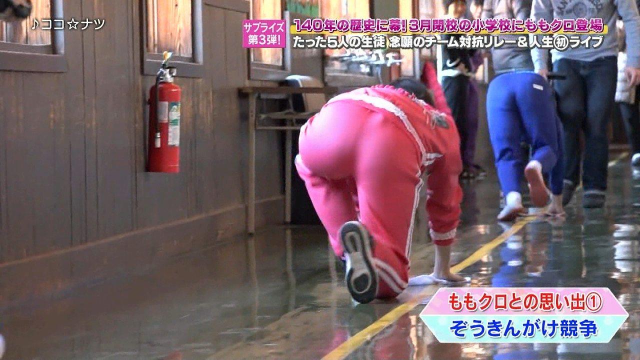 パツパツのジャージを履いたももクロ・佐々木彩夏のお尻