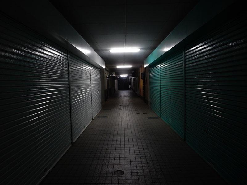 160304夜のシャッター街
