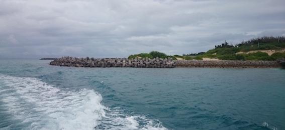 久高島に接近