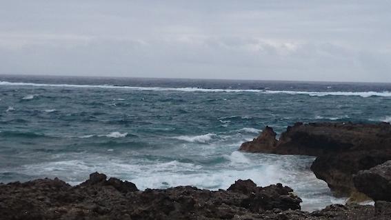 ガベール岬の沖