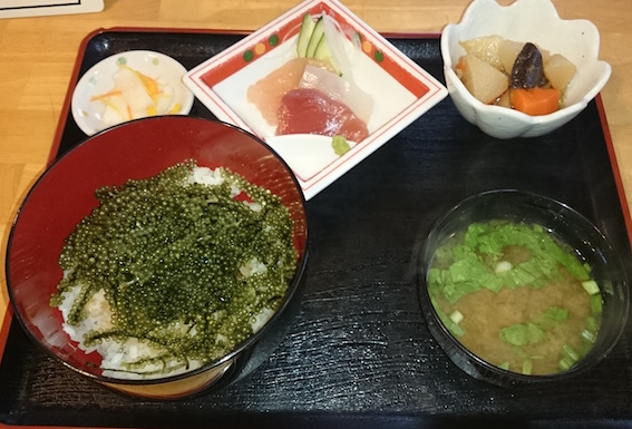 海ぶどう丼定食