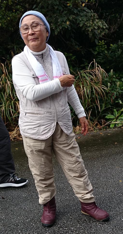 伊敷浜の真栄田さん
