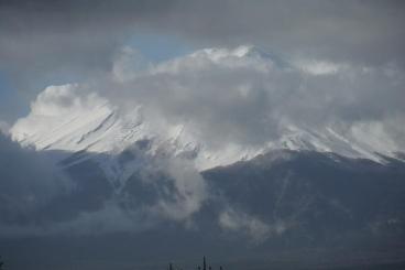 部屋からみた富士山