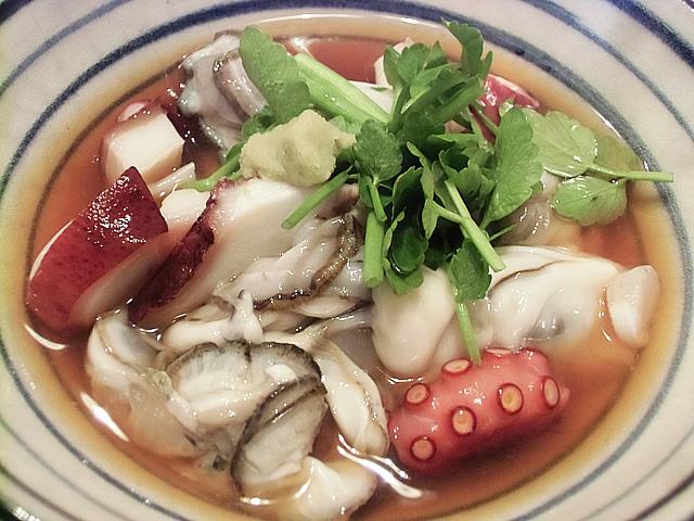 牡蠣の酢浸し
