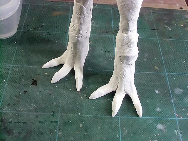 爪を作ります