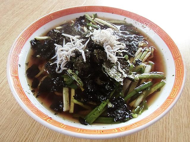 海苔雑魚葱ラーメン