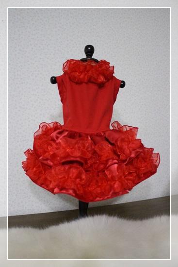 真っ赤なドレスワンピ