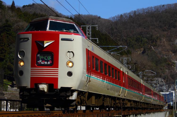 381系 特急やくも 広石信号所-井倉