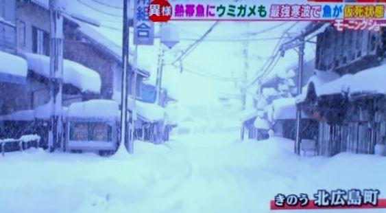 モーニングショー広島大雪