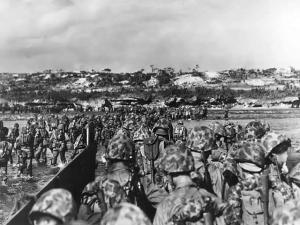 沖縄にアメリカ軍上陸