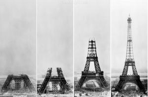 エッフェル塔の工事工程