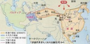 前漢の武帝時代の版図
